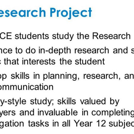 Stage 2 Research Project